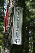 National Park Service Boundary Marker